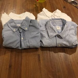 Dress shirts for boys tomorrow n white and blue